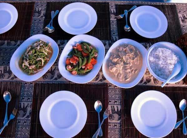 Thailändische Köstlichkeiten aus der Bordküche
