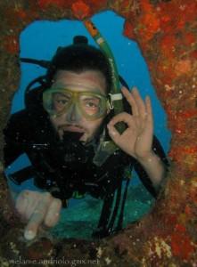 Advanced diver at Elephant Head Rock
