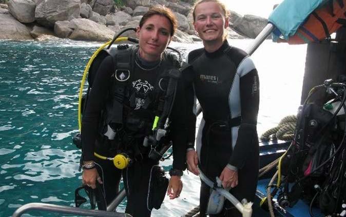 Divemaster trainee onboard M/V Amarpon