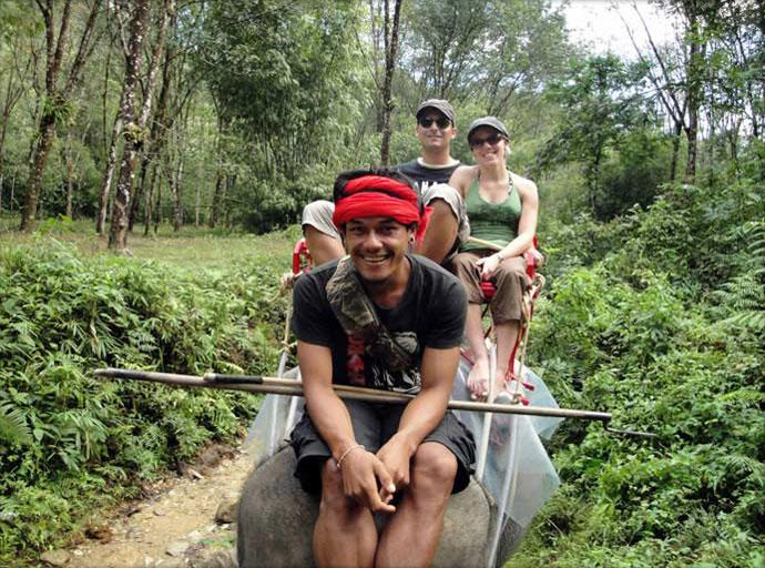 Reiten auf den Elefanten