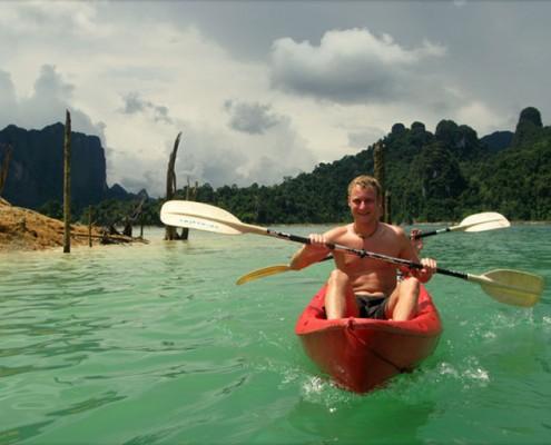 Khao Sok- Nationalpark - Ein großer Spaß ist das Kanufahren