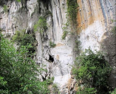 Limestone cliffs around Krabi