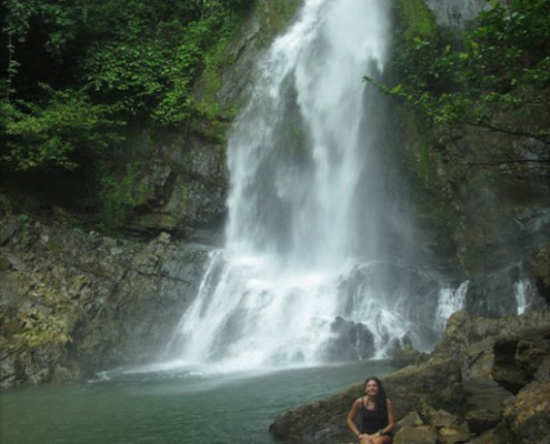The water fall in Si Phang Nga National Park