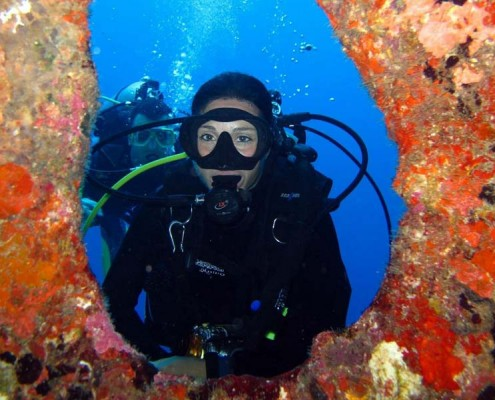 Schöne Ausblicke auch unter Wasser