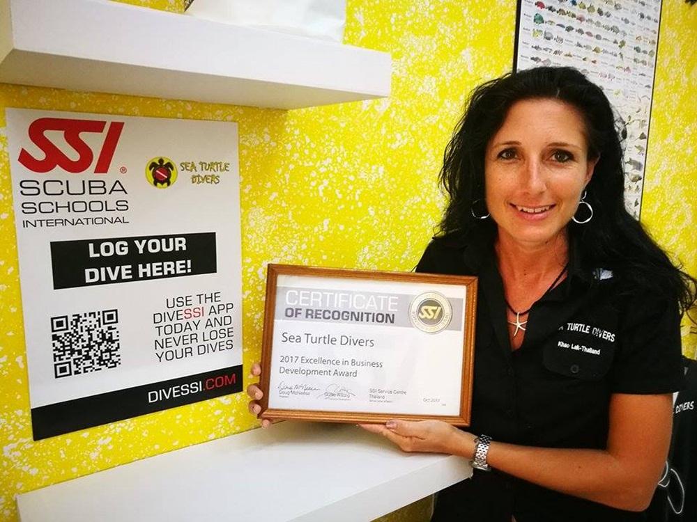 SSI Divecenter_Excellence Award