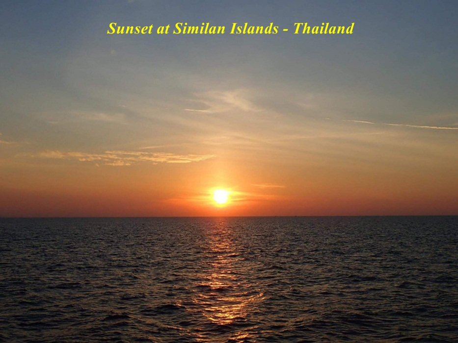 Sunset-dives, Similan Islands, Thailand